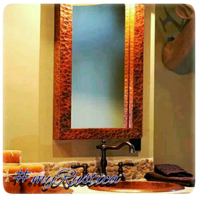 hammered copper mirrors
