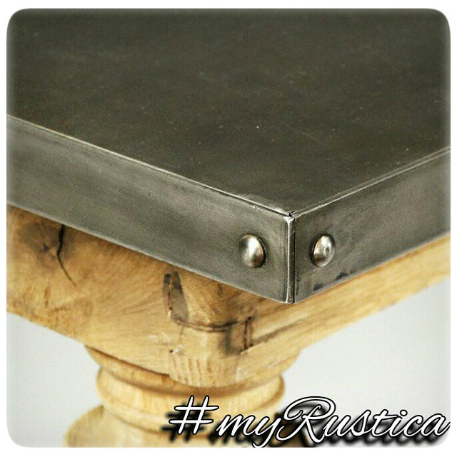 zinc tables and tabletops